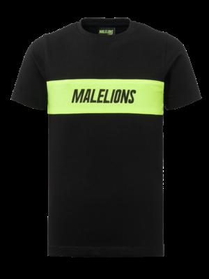 Malelions Junior Junior Uraenium T-Shirt - Black/Neon Yellow