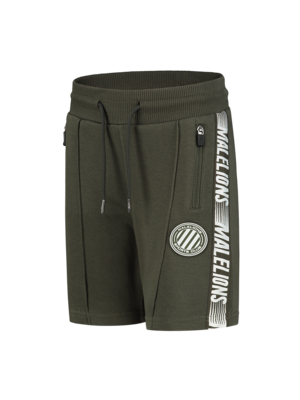 Malelions Junior Junior Homekit Short - Army/Off-white