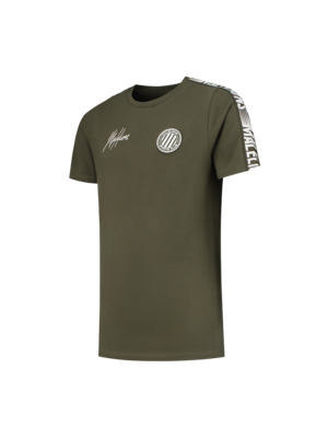 Malelions Junior Junior Homekit T-Shirt - Army/Off-white