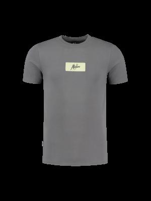 Malelions Jerra T-Shirt - Matt Grey/Yellow