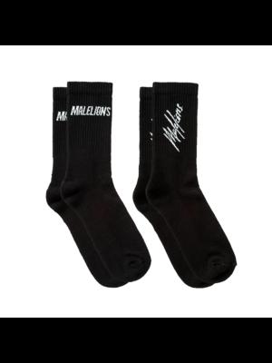 Malelions Socks 2-pack - Black/White