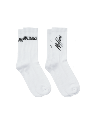 Malelions Socks 2-pack - White/Black