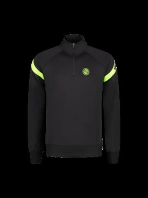 Malelions Sport Sport Pre-Match Quarterzip - Black/Neon Yellow