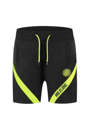 Malelions Sport Sport Pre-Match Short - Black/Neon Yellow