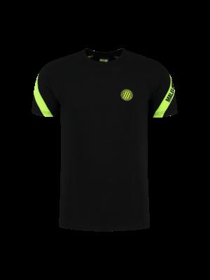Malelions Sport Sport Pre-Match T-Shirt - Black/Neon Yellow
