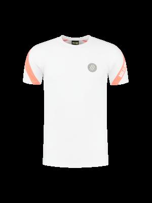 Malelions Sport Sport Pre-Match T-Shirt - White/Salmon