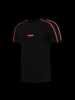 Malelions Sport Sport Coach T-Shirt - Black/Neon Orange