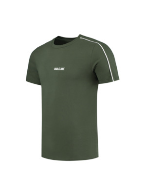 Malelions Sport Sport Coach T-Shirt - Army/White
