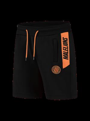 Malelions Sport Sport Coach Short - Black/Neon Orange