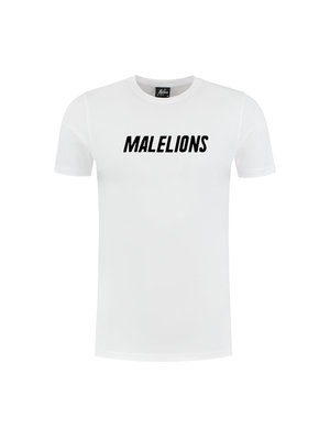 Malelions T-Shirt Nium - White/Black