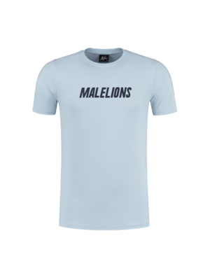 Malelions T-Shirt Nium - Light Blue/Navy