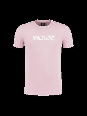 Malelions T-Shirt Nium - Pink/White