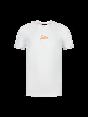 Malelions Junior Malelions Junior T-shirt Gini - White/Orange