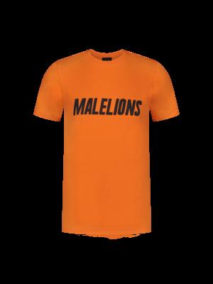 Malelions Junior Malelions Junior T-shirt Nium - Orange/Black