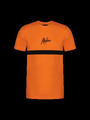 Malelions Junior Malelions Junior T-shirt Tonny - Orange/Black