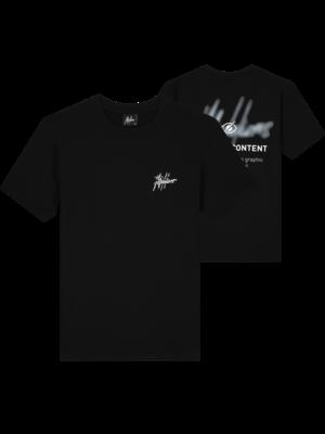 Malelions Men Content T-Shirt - Black/White