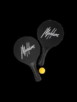 Malelions Beach Tennis Set - Black/White