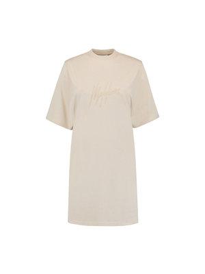 Malelions Women Women Lou T-Shirt Dress - Beige