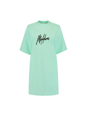 Malelions Women Women Lou T-Shirt Dress - Mint/Black
