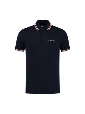 Malelions Nium Polo - Navy/Peach