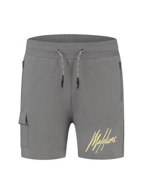 Malelions Pocket Short - Matt Grey/Yellow