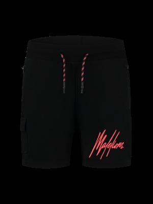 Malelions Pocket Short - Black/Neon Red