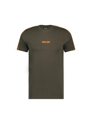 Malelions Sport Sport Coach T-Shirt - Army/Orange