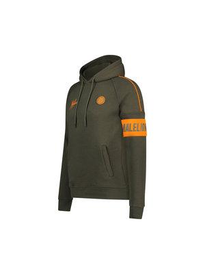 Malelions Sport Sport Coach Hoodie - Army/Orange