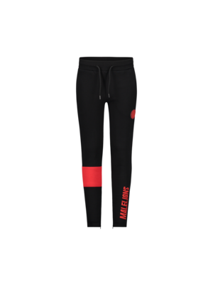 Malelions Junior Junior Sport Captain Trackpants - Black/Red