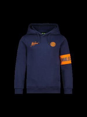 Malelions Junior Junior Sport Captain Hoodie - Navy/Orange