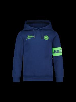 Malelions Junior Junior Sport Captain Hoodie - Navy/Green