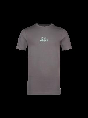 Malelions Junior Junior Double Signature T-Shirt - Antra/Mint