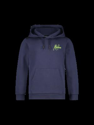 Malelions Junior Junior Double Signature Hoodie - Navy/Green