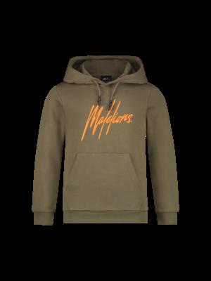 Malelions Junior Junior Signature Hoodie - Army/Orange