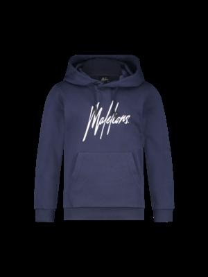 Malelions Junior Junior Signature Hoodie - Navy/White