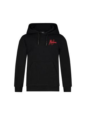 Malelions Junior Junior Double Signature Hoodie - Black/Red