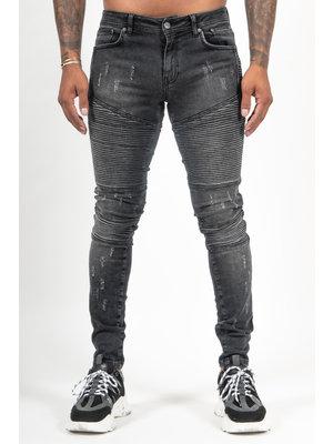 Malelions Biker Jeans - Black