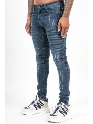 Malelions Biker Jeans - Dark Blue