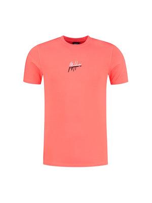 Malelions Men Split Signature T-Shirt - Red/Black