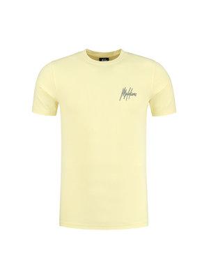 Malelions Men Signature Puff T-Shirt - Yellow/Matt Grey