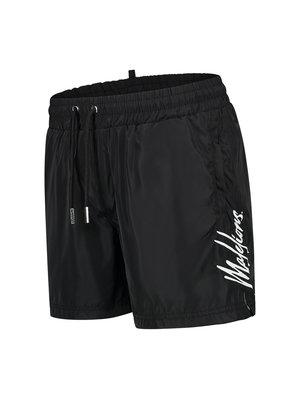 Malelions Men Signature Swimshort - Black/Turquoise