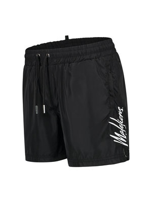 Malelions Men Signature Swimshort - Black/White