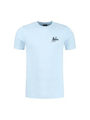 Malelions Men Boxer T-Shirt - Light Blue/Navy