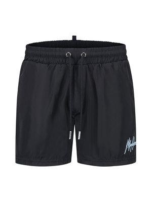 Malelions Men Boxer Swimshort - Navy/Light Blue