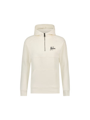 Malelions Half Zip Hoodie - White/Off-White