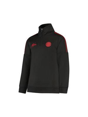 Malelions Junior Junior Sport Quarterzip - Black/Red