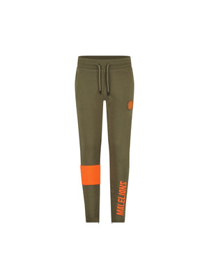 Malelions Junior Junior Sport Captain Trackpants - Army/Orange