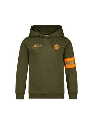 Malelions Junior Junior Sport Captain Hoodie - Army/Orange