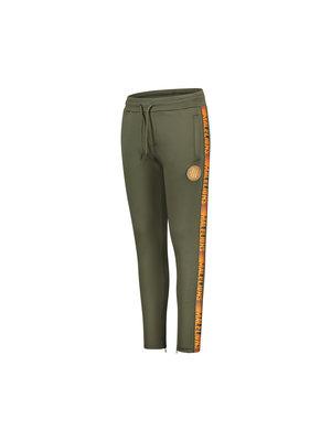 Malelions Junior Junior Sport Warming Up Trackpants - Army/Orange