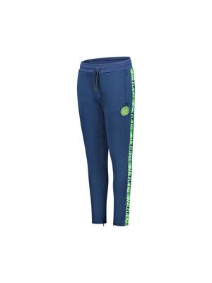 Malelions Junior Junior Sport Warming Up Trackpants - Navy/Green